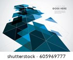 vector of modern futuristic... | Shutterstock .eps vector #605969777