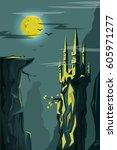 vector illustration of nature...   Shutterstock .eps vector #605971277