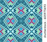 seamless vector pattern.... | Shutterstock .eps vector #605975693