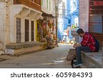 jodhpur  india  17th january... | Shutterstock . vector #605984393