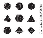 geometric shapes   platonic... | Shutterstock .eps vector #605993087