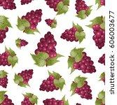 grapes seamless pattern | Shutterstock .eps vector #606003677