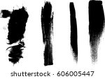 grunge paint stripe . vector... | Shutterstock .eps vector #606005447