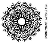 mandalas for coloring book.... | Shutterstock .eps vector #606011513