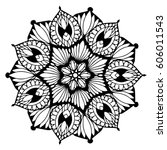 mandalas for coloring book.... | Shutterstock .eps vector #606011543