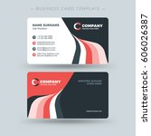double sided business card... | Shutterstock .eps vector #606026387