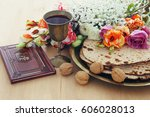 pesah celebration concept ... | Shutterstock . vector #606028013