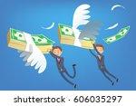 reward for success. efforts to... | Shutterstock .eps vector #606035297