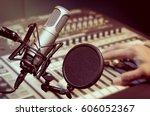 professional condenser studio... | Shutterstock . vector #606052367