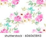watercolor seamless pattern....   Shutterstock . vector #606065843
