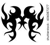 tattoo tribal vector designs.... | Shutterstock .eps vector #606087377