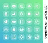 25 fitness icons pack  big set... | Shutterstock .eps vector #606088967