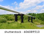 the high pressure pipeline | Shutterstock . vector #606089513
