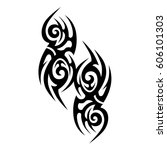 tribal tattoo art designs.... | Shutterstock .eps vector #606101303