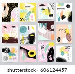 abstract tropical illustration | Shutterstock .eps vector #606124457