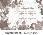 autumn floral background | Shutterstock .eps vector #60614101