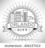 minimal orlando linear city... | Shutterstock .eps vector #606157313