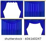 Four Design Of Blue Curtains...