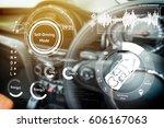 smart car  hud  concept. empty...   Shutterstock . vector #606167063