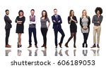 group of full body people | Shutterstock . vector #606189053