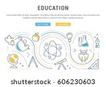 flat line illustration of... | Shutterstock .eps vector #606230603