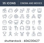 set vector line icons  sign and ...
