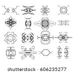 vector icons shapes isolated... | Shutterstock .eps vector #606235277