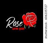 rose logo symbol with black...