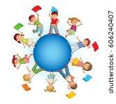 vector concept illustration of... | Shutterstock .eps vector #606240407