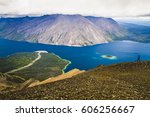 kathleen lake in kluane... | Shutterstock . vector #606256667