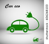 vector car icon in thin line... | Shutterstock .eps vector #606268103