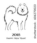 2018 happy new year greeting... | Shutterstock .eps vector #606270023