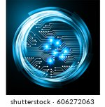 blue cyber security concept...   Shutterstock .eps vector #606272063