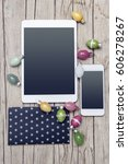 business easter decoration on...   Shutterstock . vector #606278267