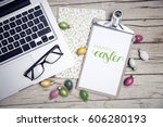 easter background with...   Shutterstock . vector #606280193