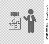 business partnership...   Shutterstock .eps vector #606280673