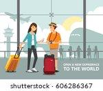 landmark and transport  travel  ... | Shutterstock .eps vector #606286367