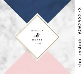 minimalist marble texture... | Shutterstock .eps vector #606293273