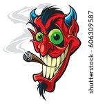devil   Shutterstock .eps vector #606309587