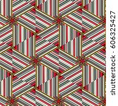 sewing  mosaics of bright... | Shutterstock . vector #606325427