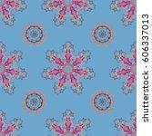 decorative design element... | Shutterstock .eps vector #606337013
