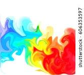 colorful digital acrylic color... | Shutterstock . vector #606353597