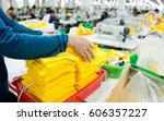industrial size clothes factory ... | Shutterstock . vector #606357227