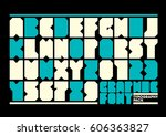 vector of stylized modern font...   Shutterstock .eps vector #606363827
