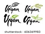 vegan hand written calligraphy...