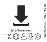 download  icon. one of set web...