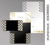 laser cutting template of... | Shutterstock .eps vector #606388883