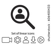 find people icon. one of set...