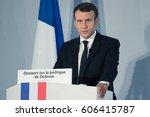 paris  france   march 17   2017 ... | Shutterstock . vector #606415787