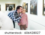ordinary father and daughter... | Shutterstock . vector #606428027